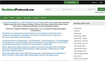 NorthlandFeatured.com - Northland and National to local business related information listings.